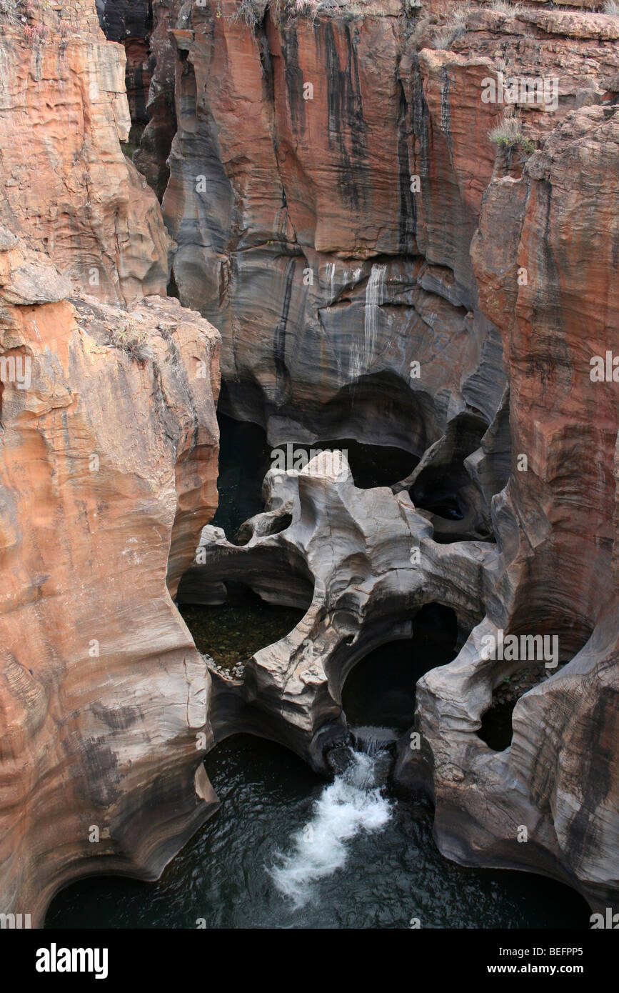 Bourke's Luck Potholes A Naturally Occuring Water Feature At The Beginning Of The Blyde River Canyon, South - Stock Image