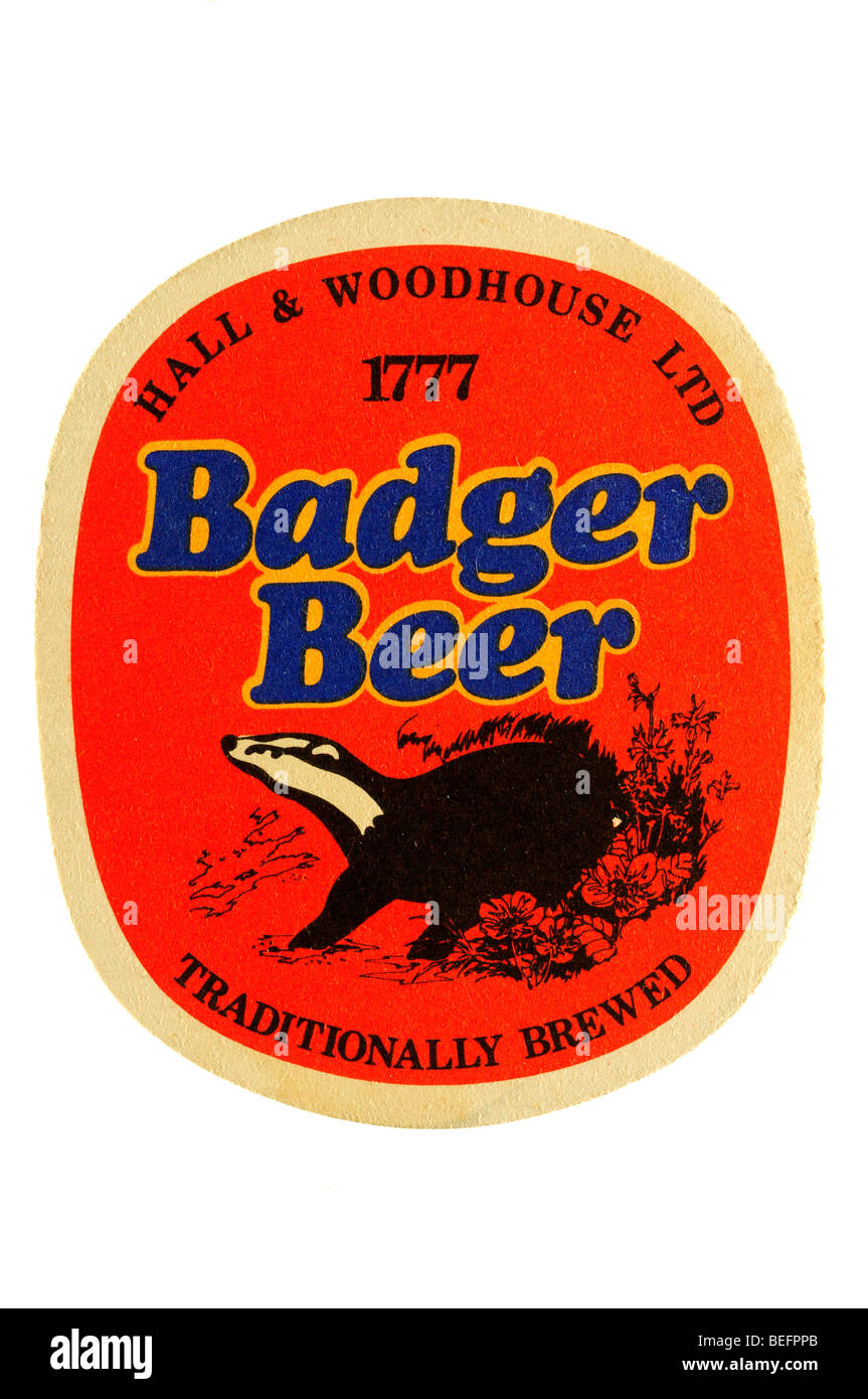 hall & woodhouse ltd 1777 badger beer traditionally brewed Stock Photo