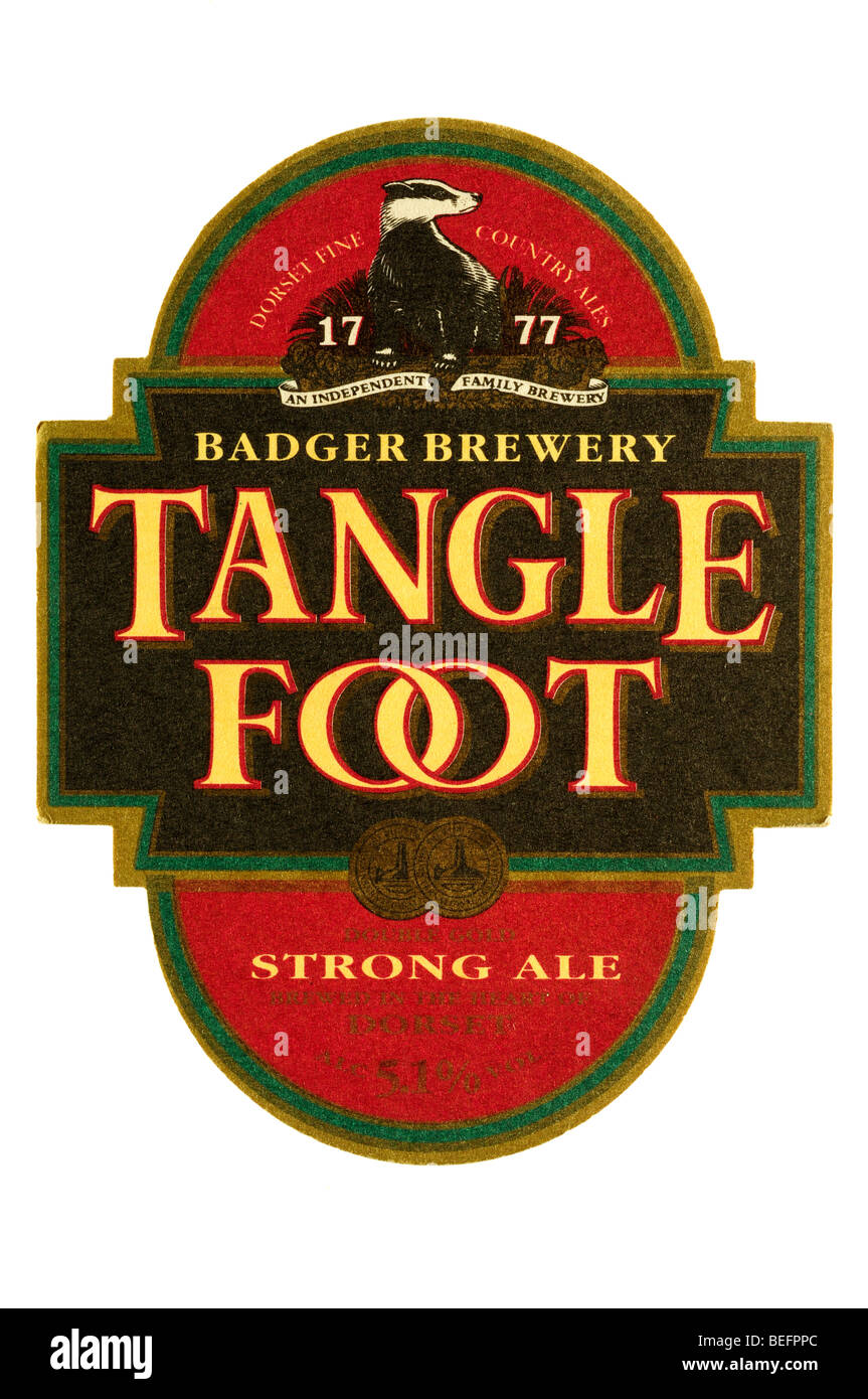 badger brewery tangle foot strong ale - Stock Image