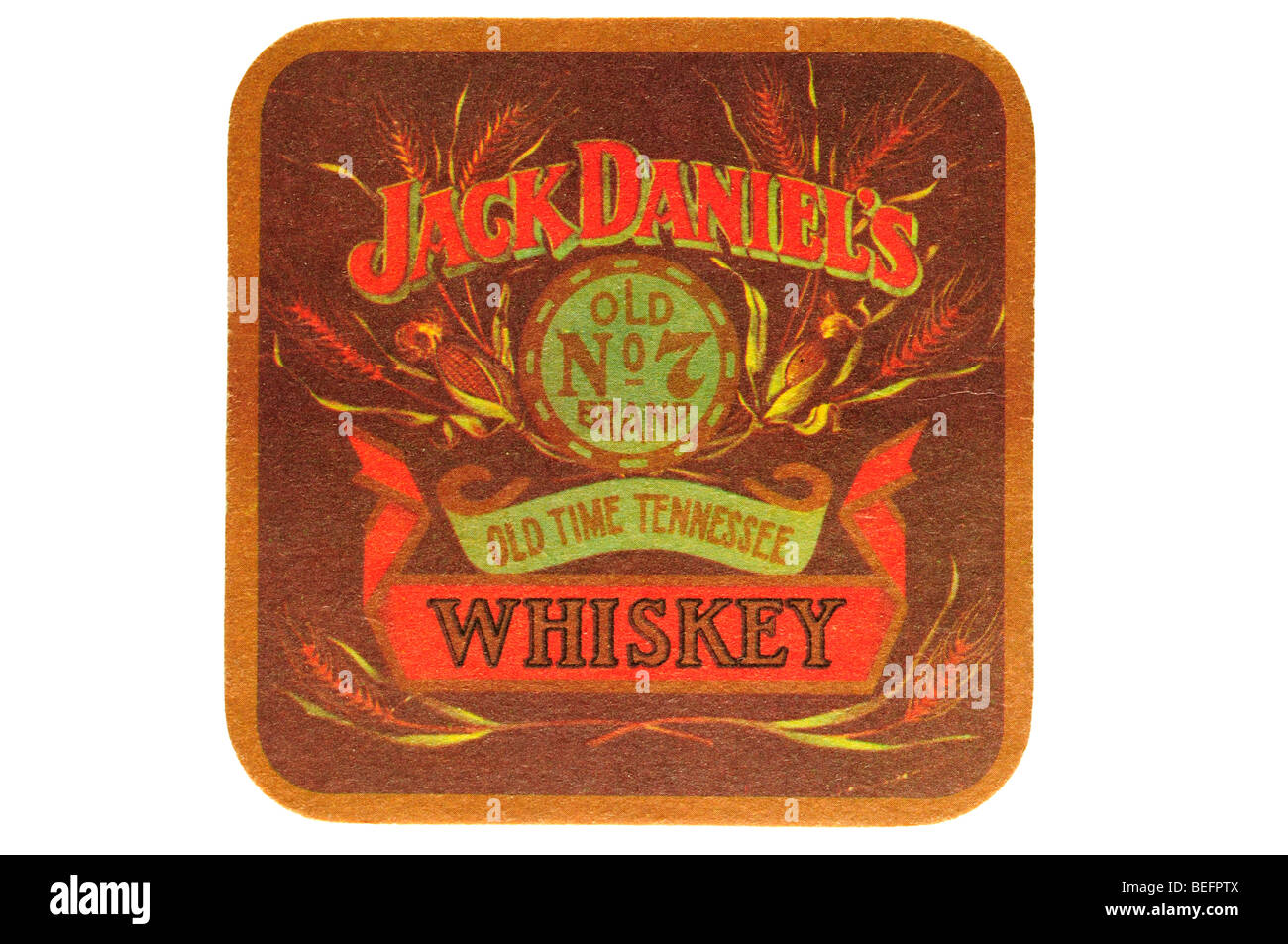 jack daniels old no 7 brand old time tennessee whiskey - Stock Image