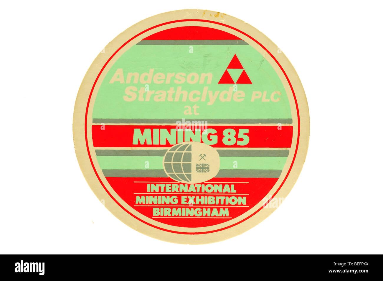 anderson strathclyde plc at minig 85 international mining exhibition birmingham - Stock Image