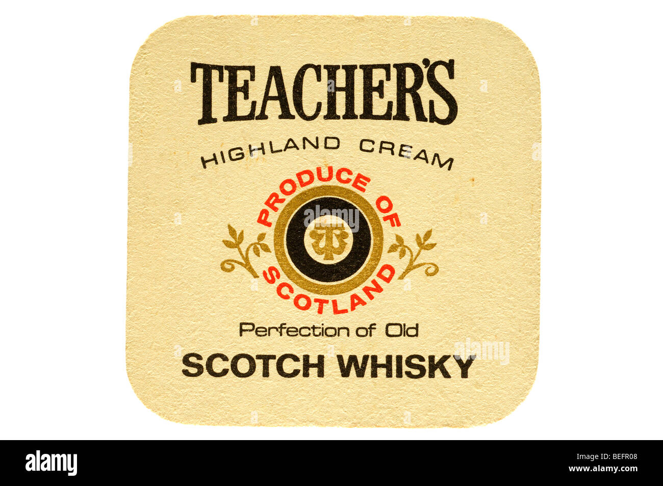 teachers highland cream produce of scotland perfection of old scotch whisky - Stock Image