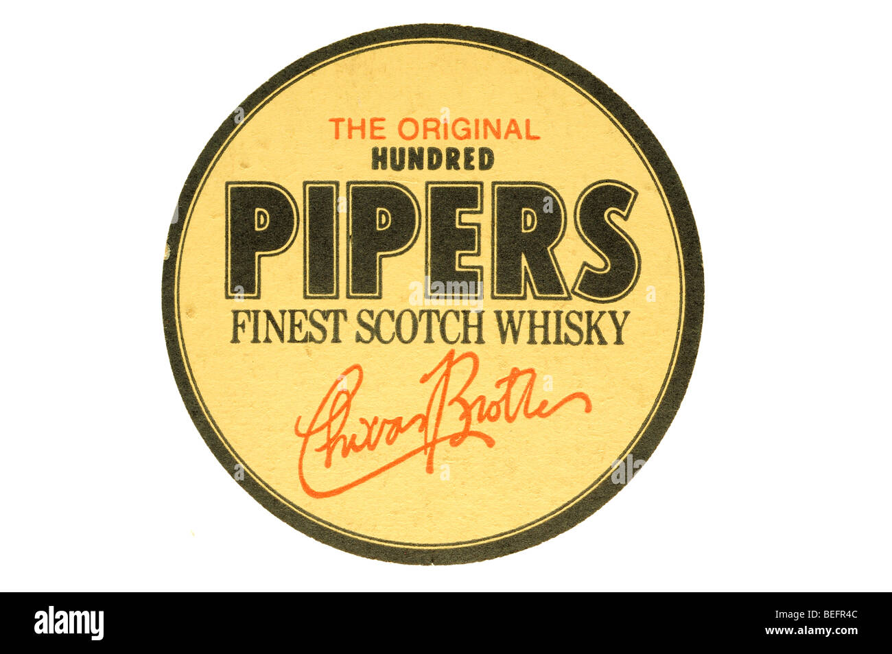 the original hundred pipers finest scotch whisky - Stock Image