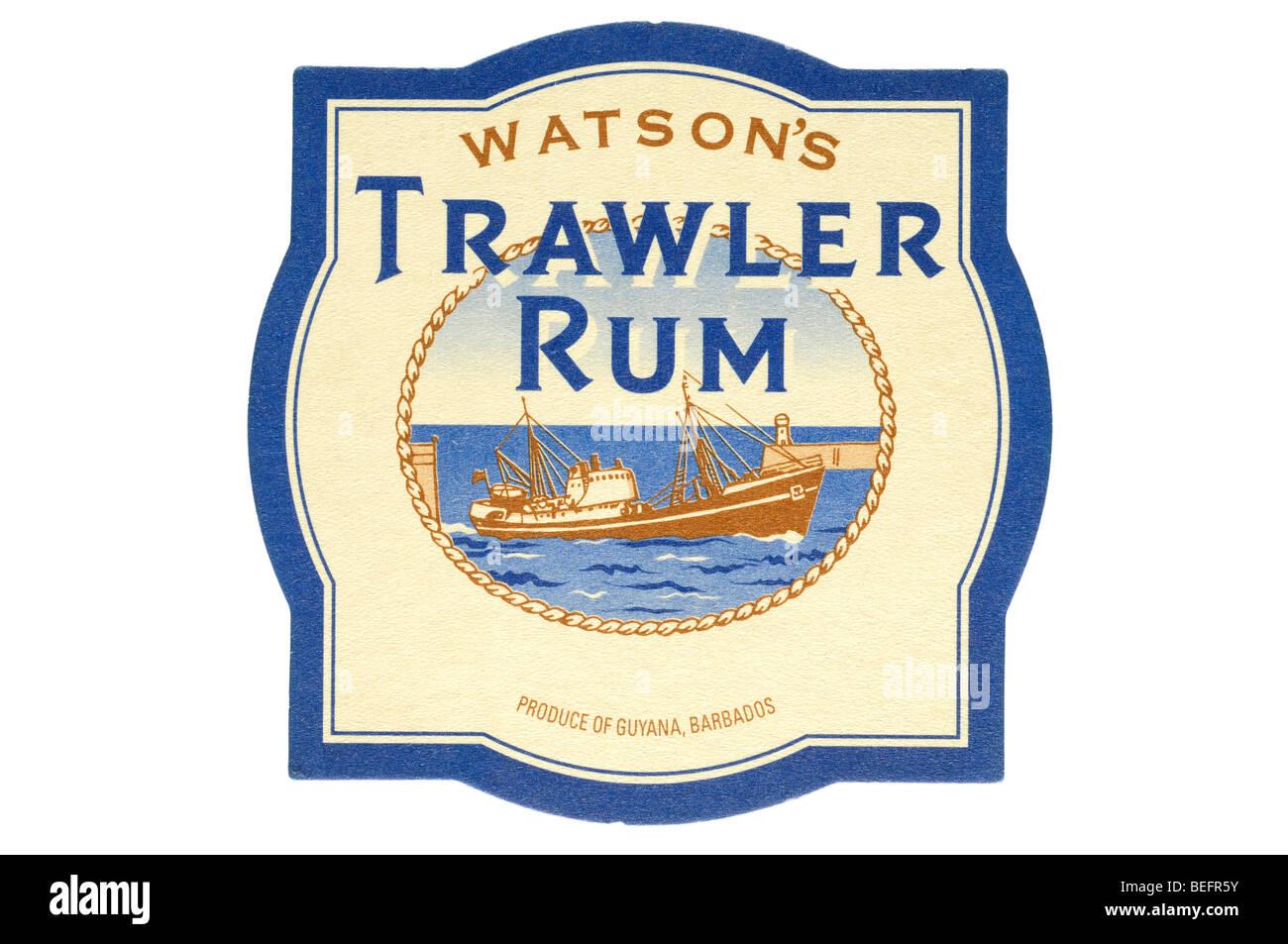 watsons trawler rum - Stock Image