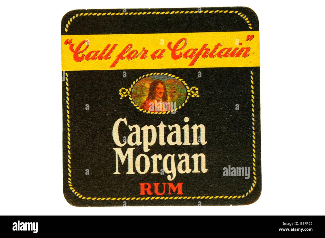 call for a captain captain morgan rum Stock Photo