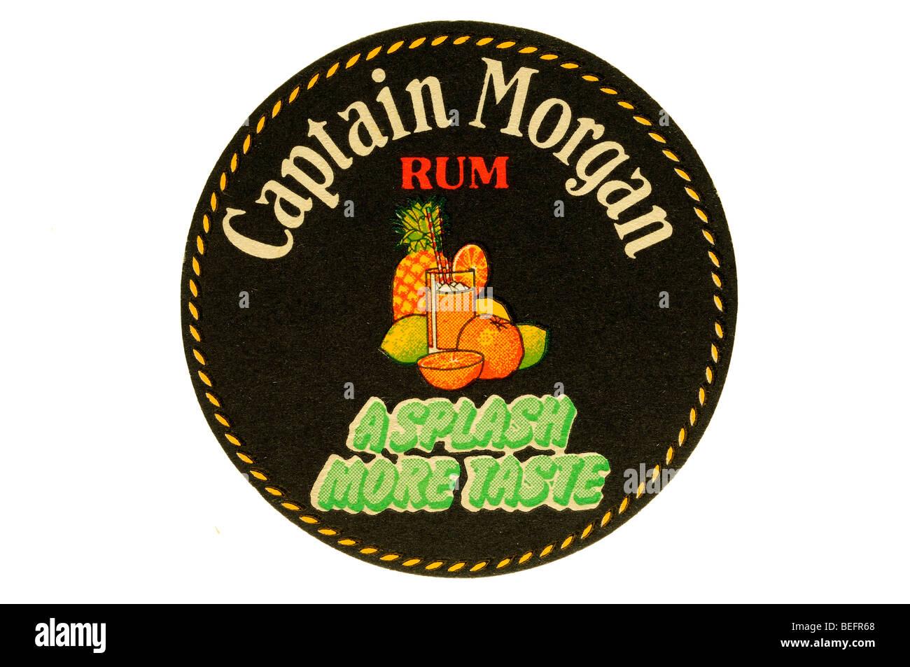 captain morgan rum a splash more taste - Stock Image