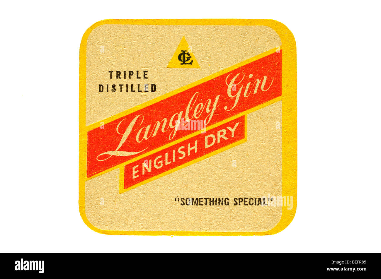 triple distilled langley gin english dry something special - Stock Image