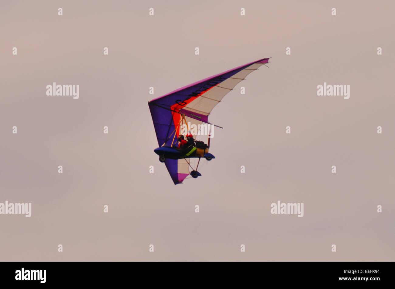 Microlight flying lesson Cambridgeshire - Stock Image