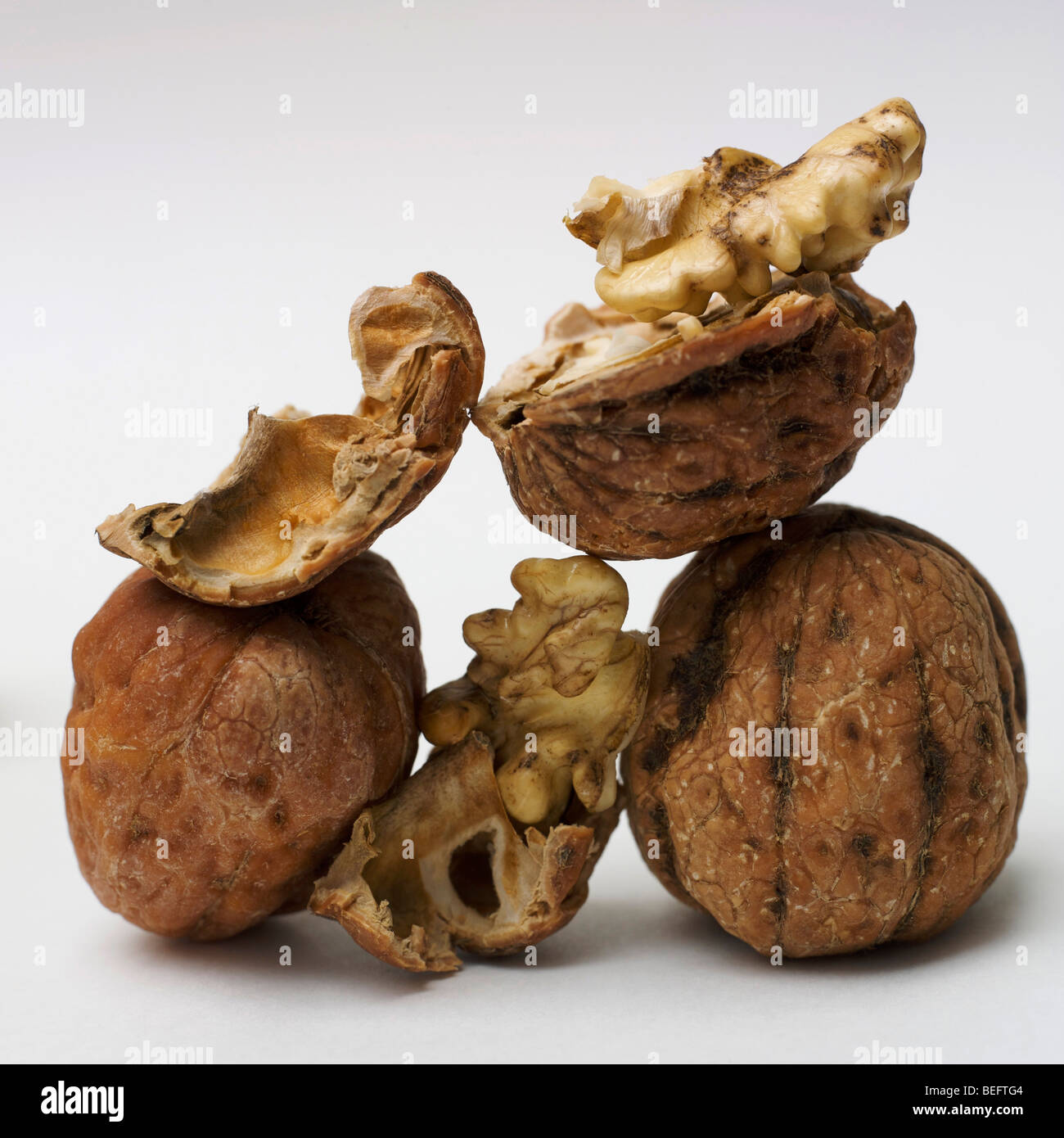 Pile of walnuts - Stock Image
