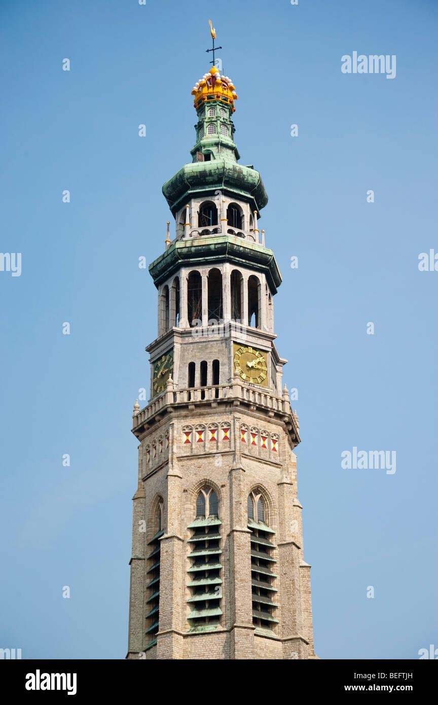 Abbey tower Lange Jan in Middelburg / Holland Stock Photo