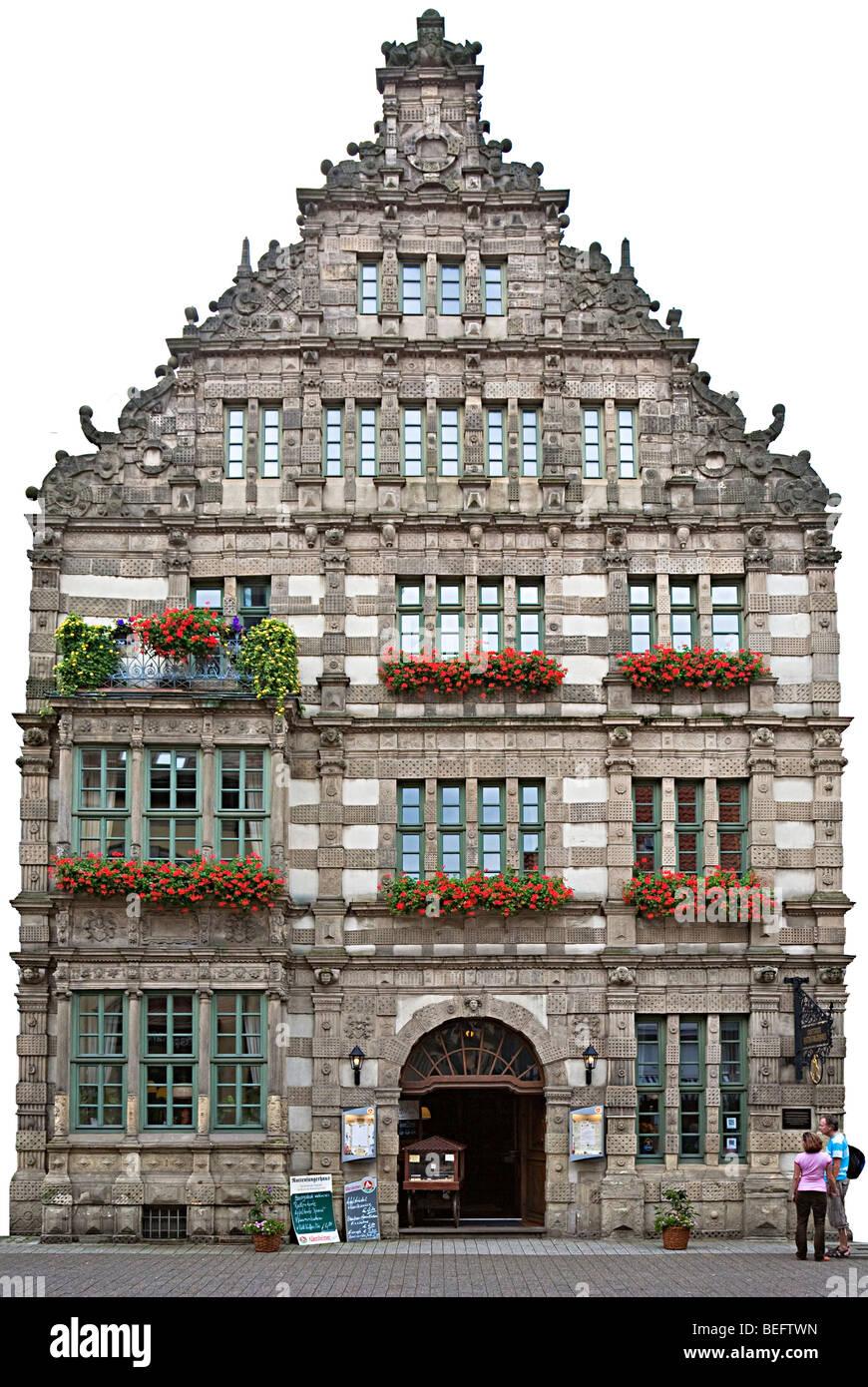 Rattenfanger house Hamelin Germany Stock Photo