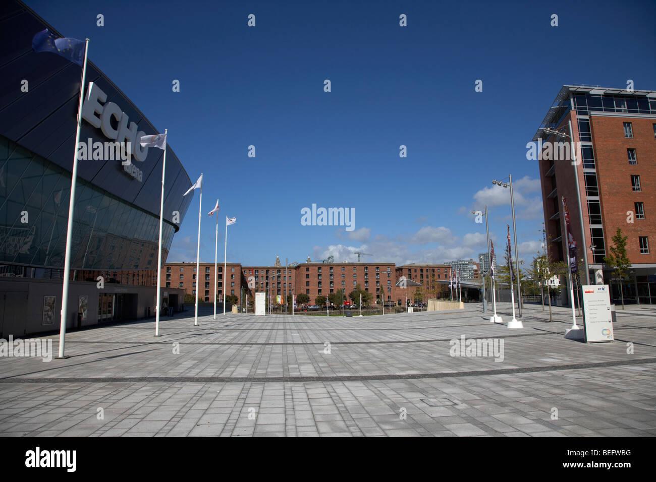 liverpool echo arena and jurys inn hotel liverpool kings waterfront merseyside england uk - Stock Image