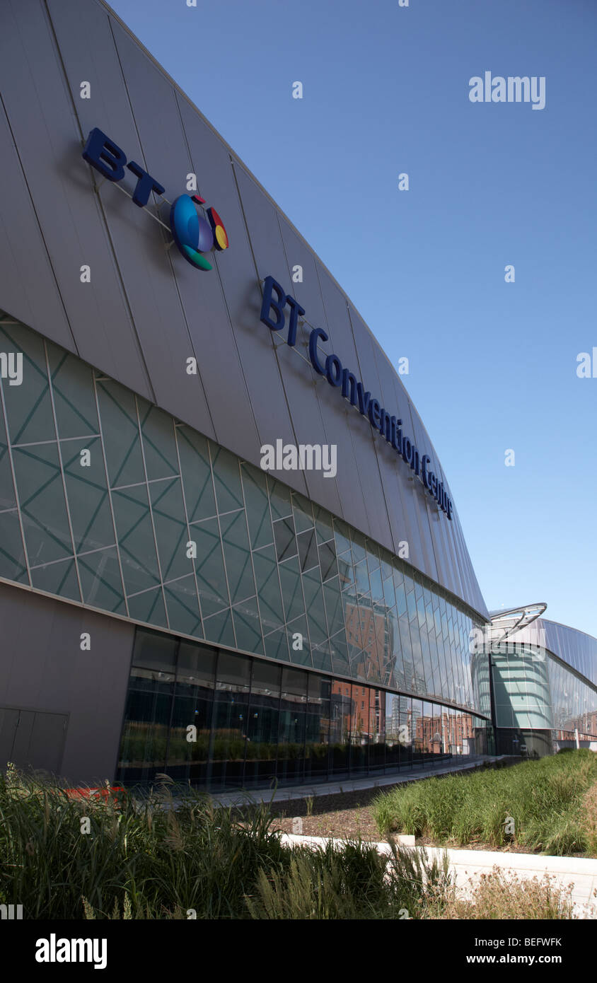 liverpool echo arena and bt convention centre liverpool city center merseyside england uk - Stock Image
