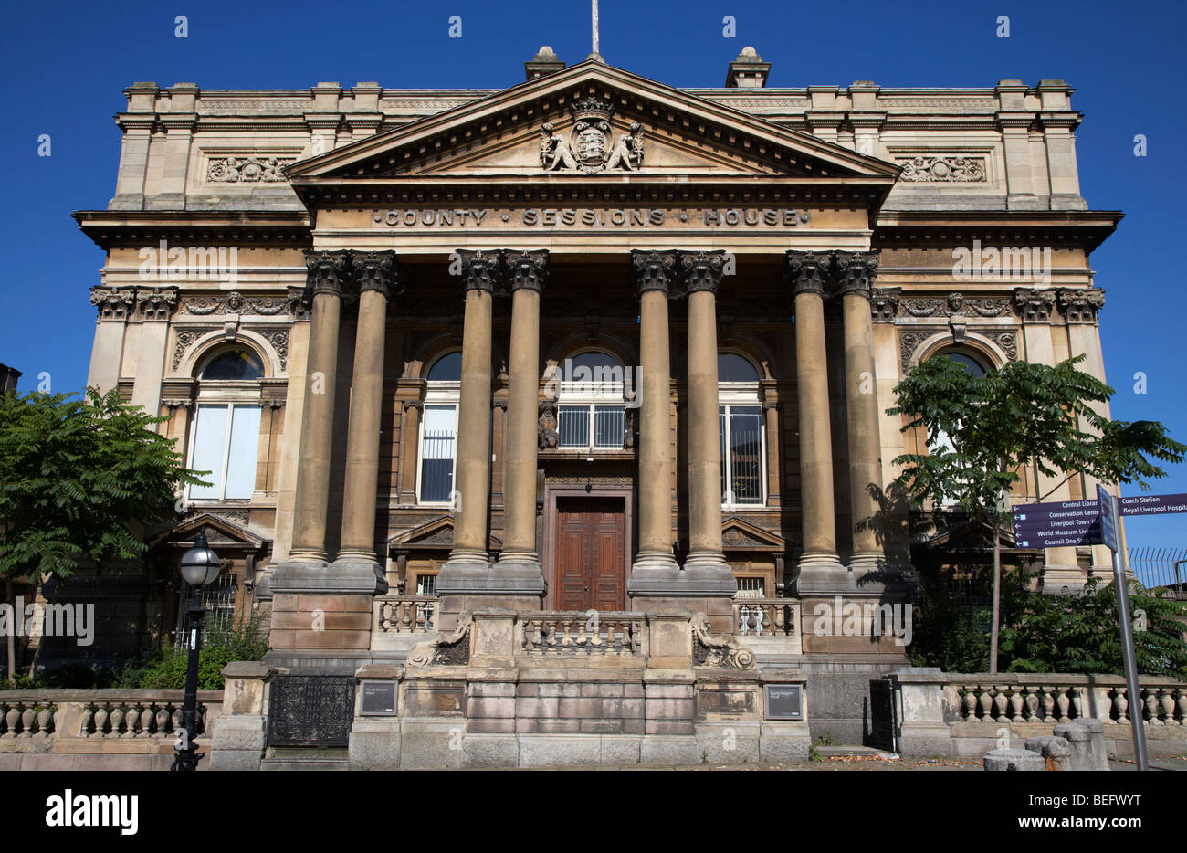 county sessions house former courthouse and now offices of the national museums william brown street conservation - Stock Image
