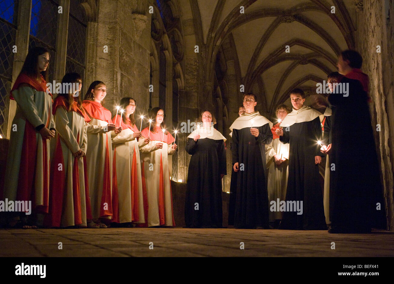 CLASSIC CHORAL SINGING AT ZISTERZIENSER ABBY. - Stock Image