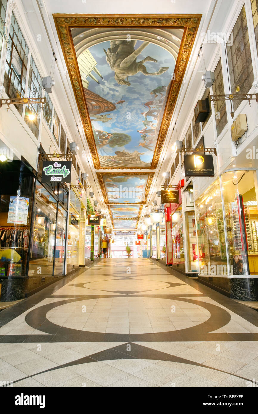 piccadilly arcade, birmingham. Shopping and retail outlets - Stock Image