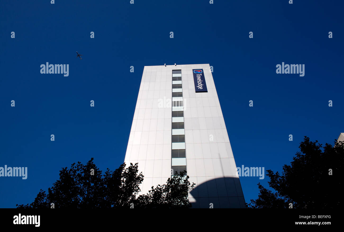 The tower of the Travelodge Drury Lane hotel in central London, UK - Stock Image
