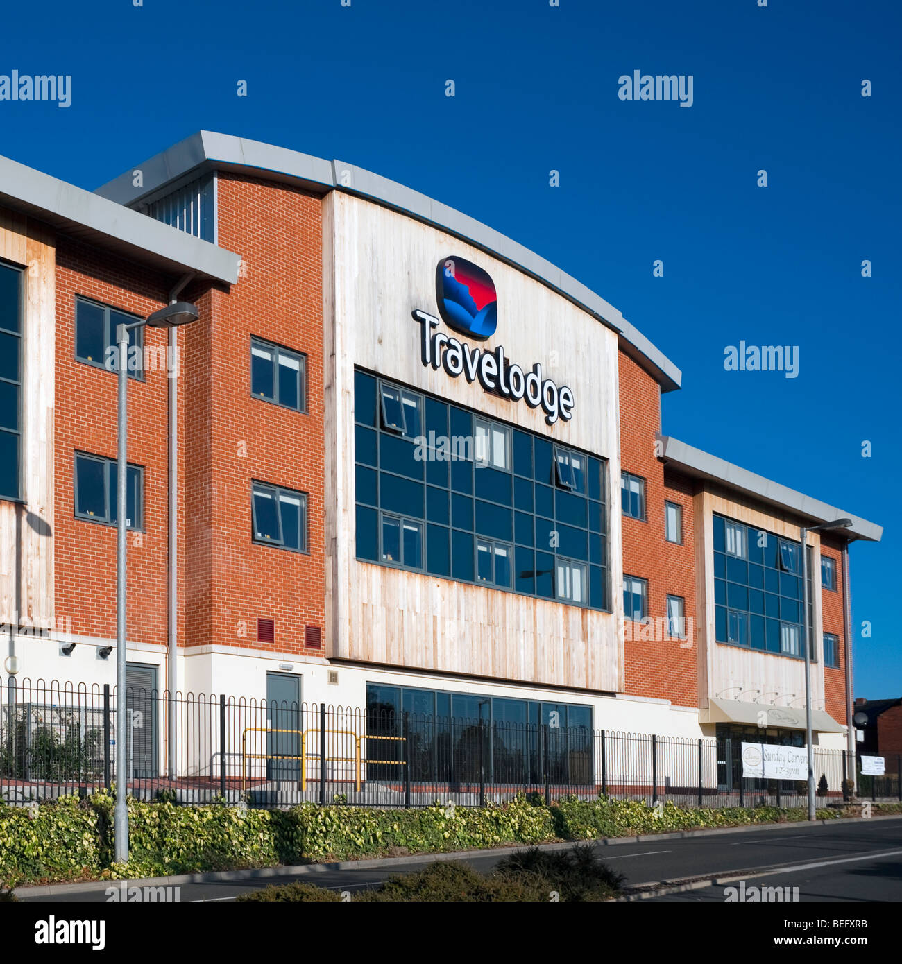 Travelodge Motel in the UK. City of Hereford's Travelodge. - Stock Image