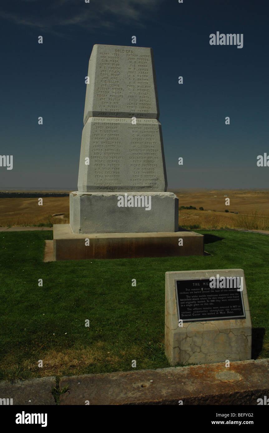 Little Big Horn battle field monument Montana Stock Photo