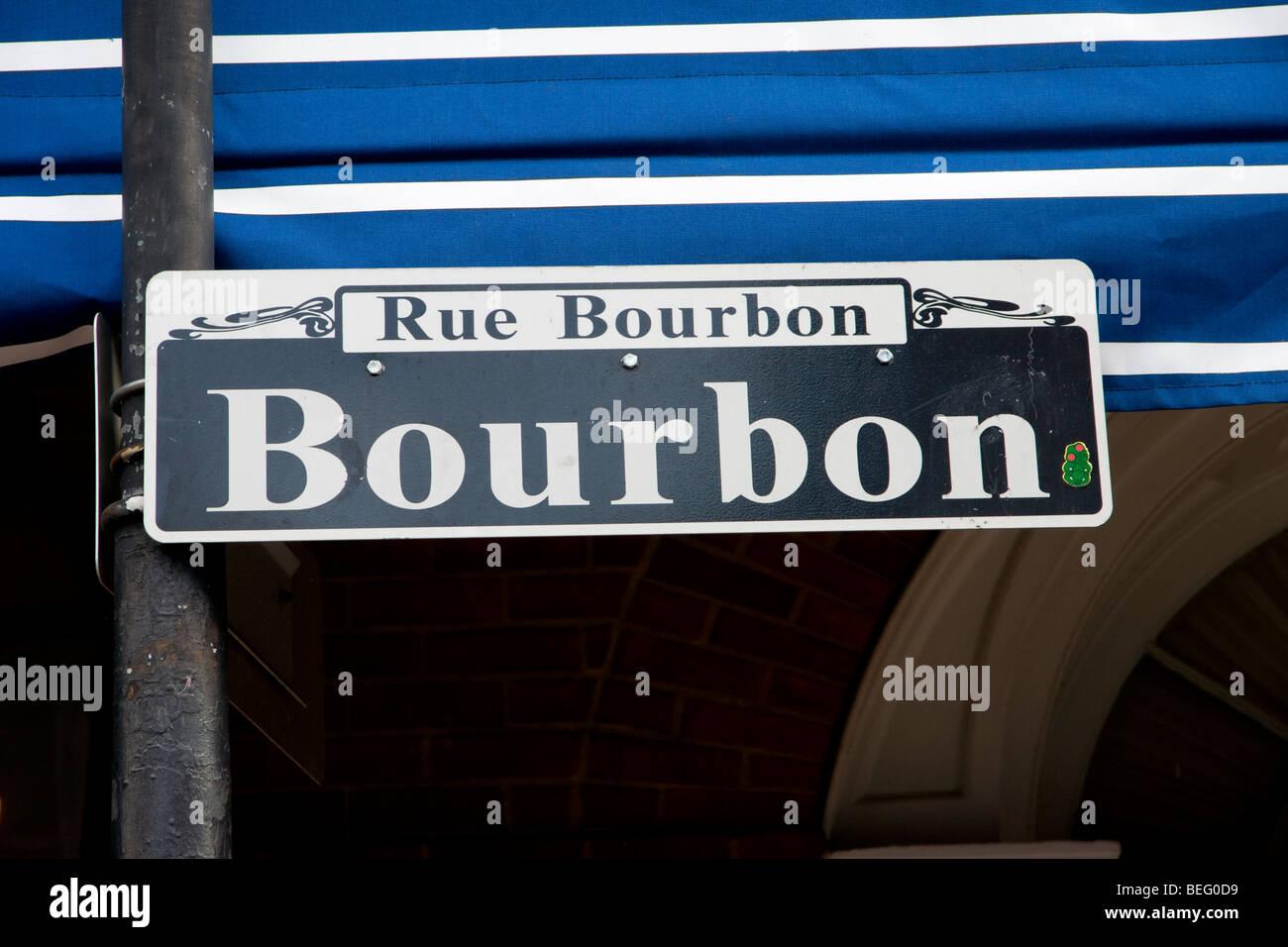 BOURBON ST METAL NOVELTY STREET SIGN