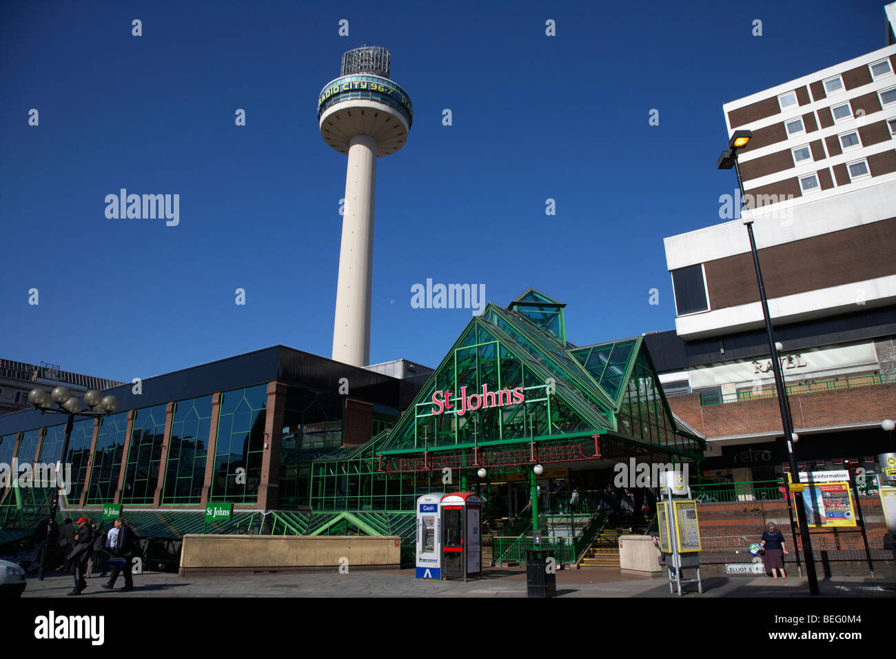 radio city tower and st johns shopping centre in liverpool city centre shopping district merseyside england uk Stock Photo
