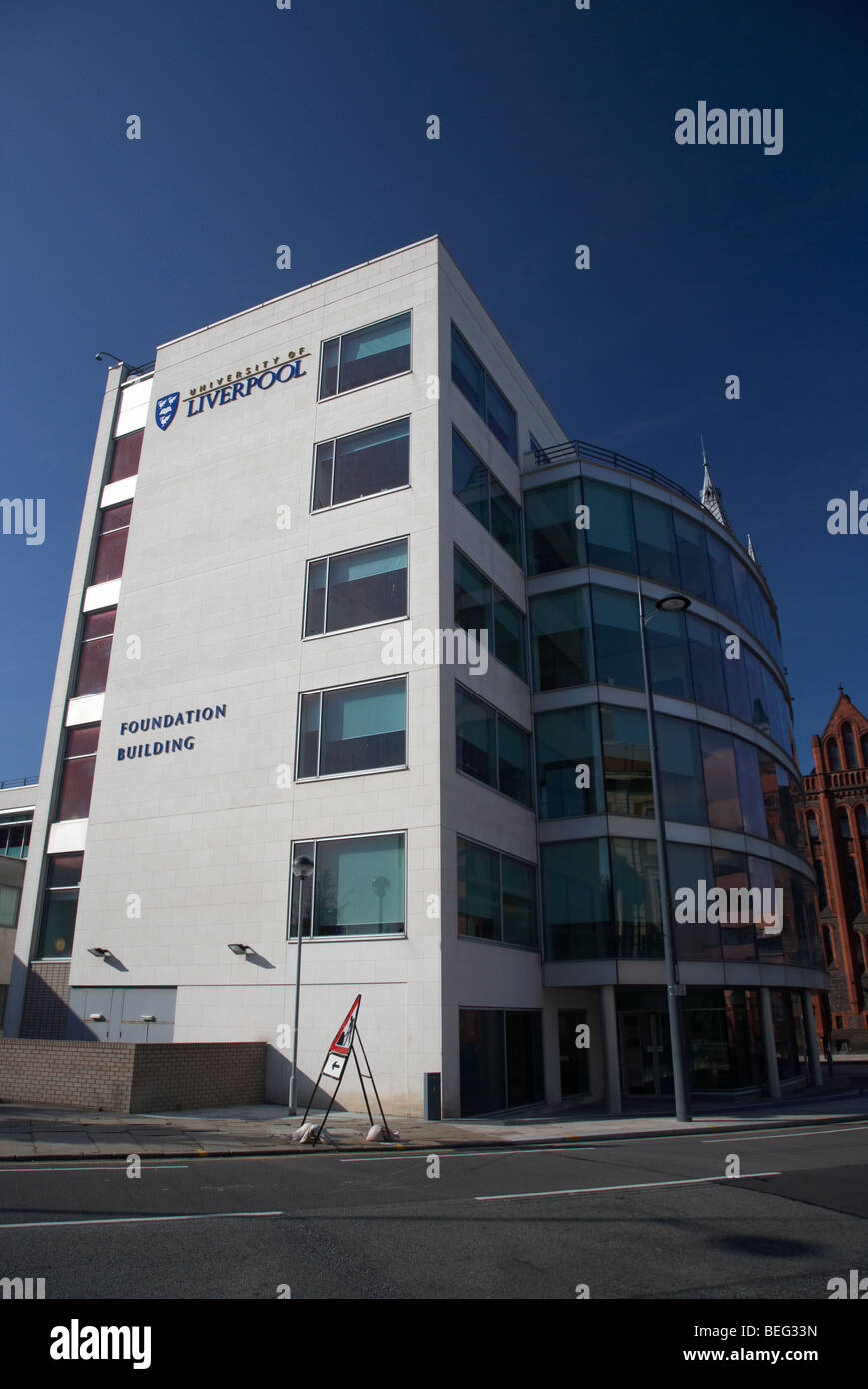 university of liverpool foundation building merseyside england uk - Stock Image