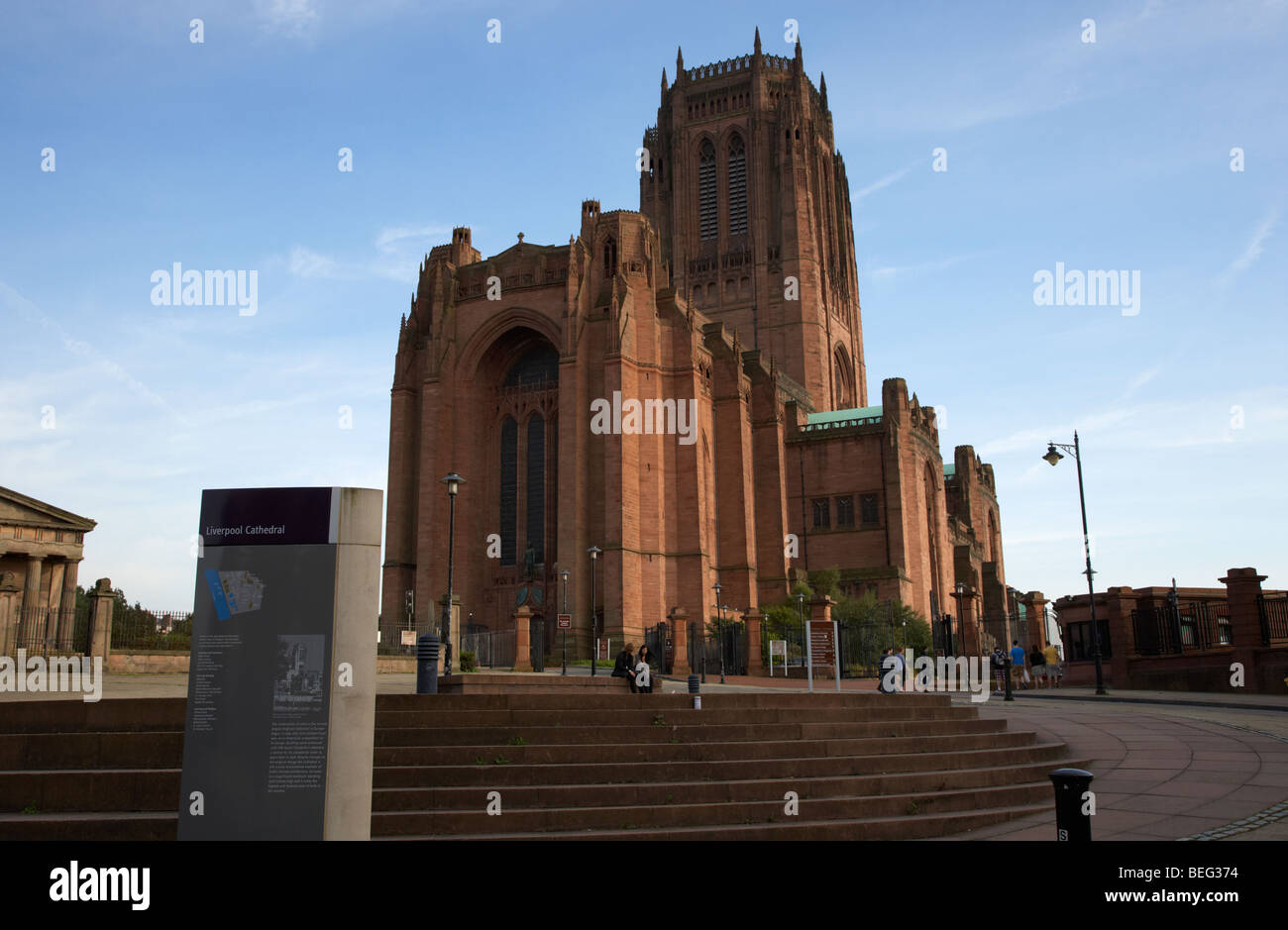 the Cathedral Church of Christ Liverpool Anglican Cathedral Merseyside England UK - Stock Image
