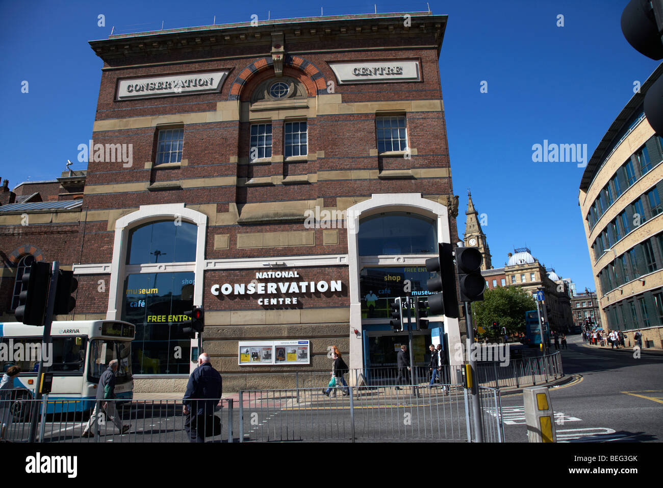 the national conservation centre in liverpool city centre based in the former midland railway goods offices merseyside - Stock Image