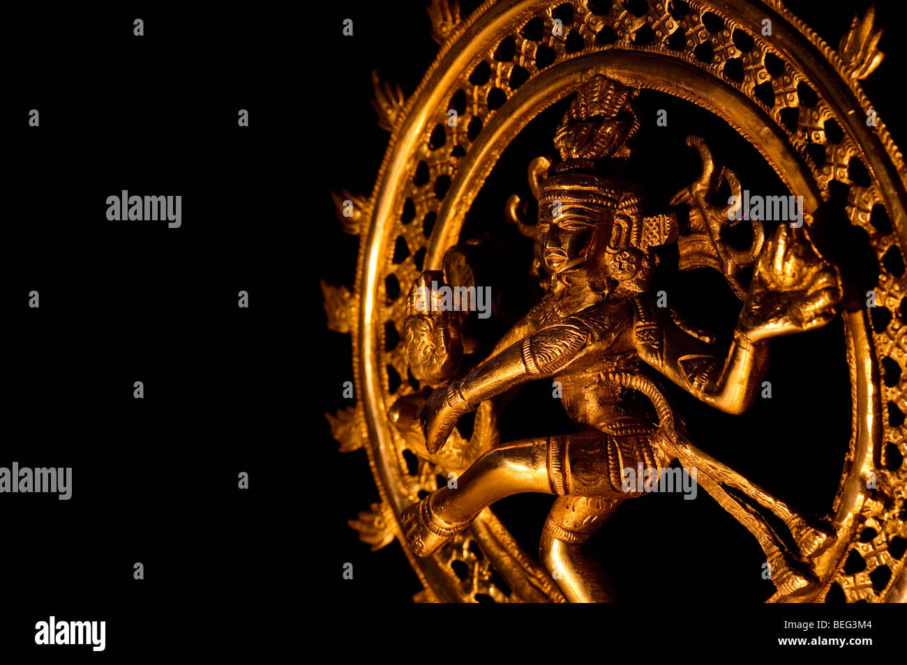 dancing lord shiva statue nataraja against black