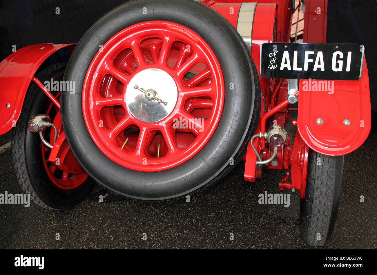 Alpha Romeo G1, 1921. Detail of the rear of the vehicle. - Stock Image
