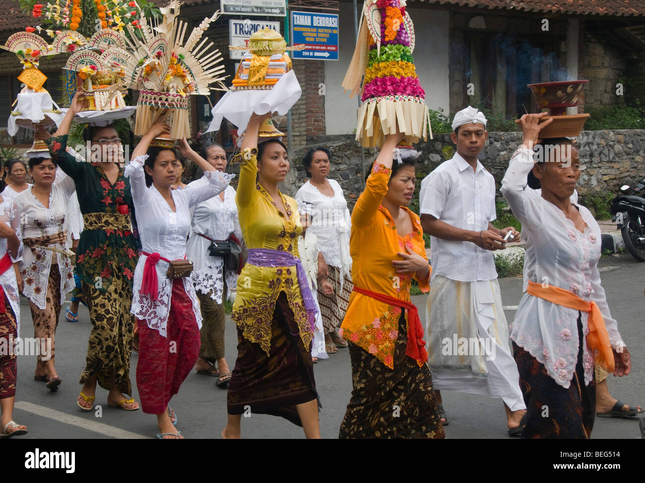 Traditional Funeral And Cremation Ceremony In Ubud In Bali