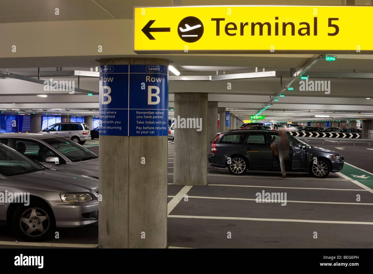 Terminal Car Parking Heathrow Airport Stock Photos Terminal Car