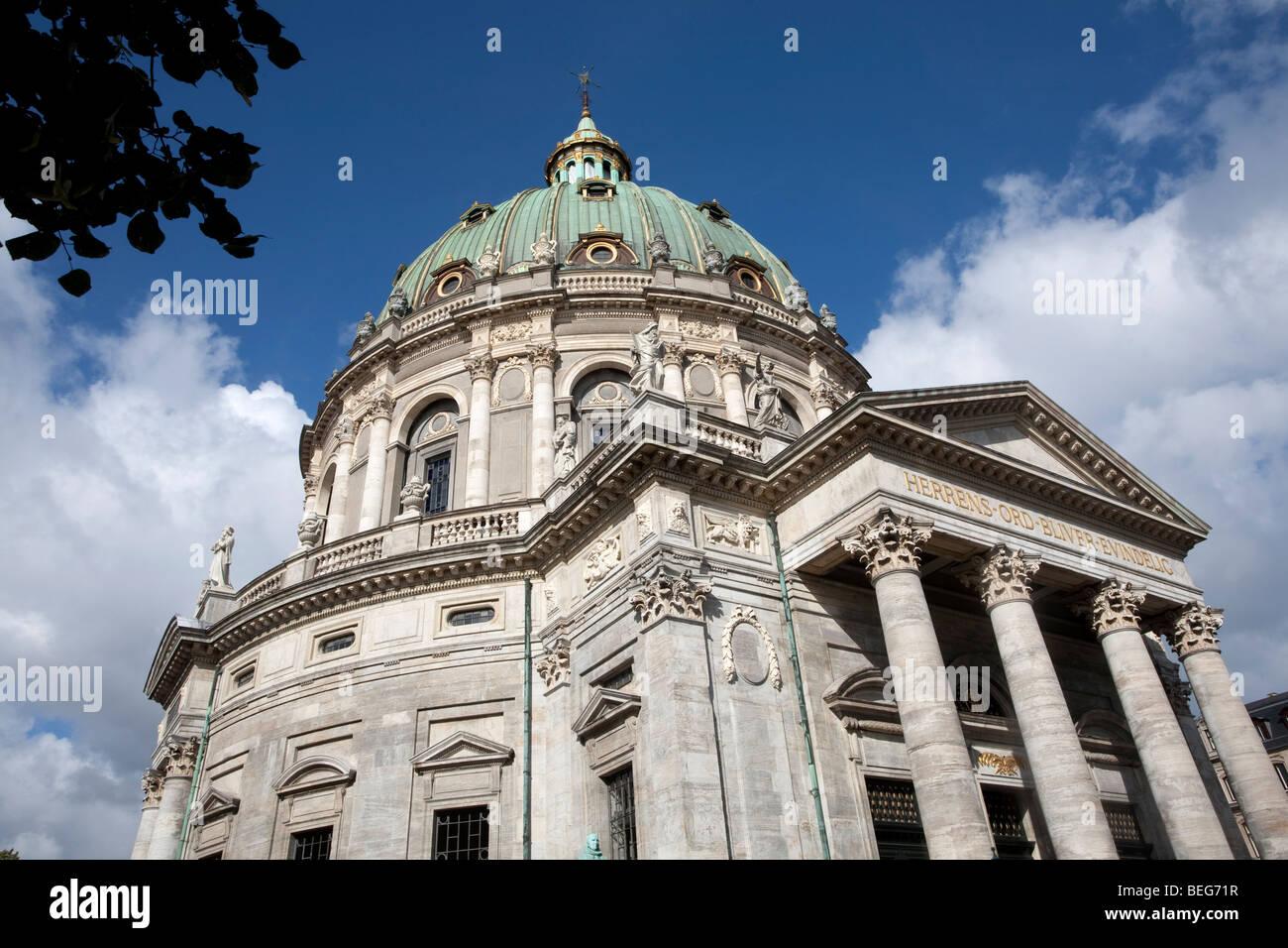The Marble Church (Marmorkirken / Frederikskirken) Copenhagen, Denmark, Scandinavia - Stock Image