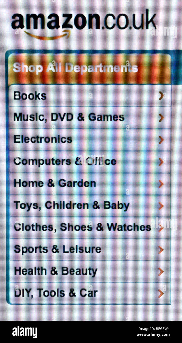Amazon screenshot - Stock Image