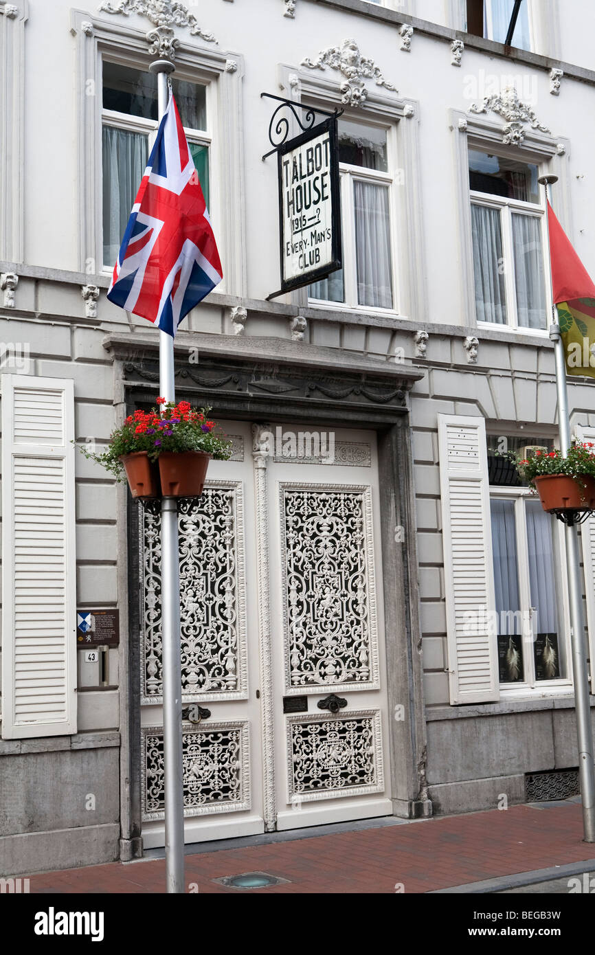 Facade of the Talbot House World War 1 museum. - Stock Image