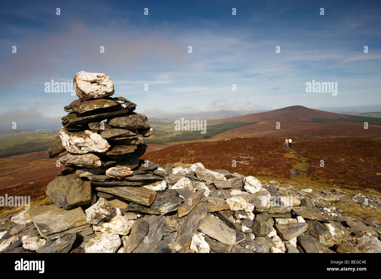 South Barrule Viewed from Cronk ny Arrey Laa Isle Of Man - Stock Image