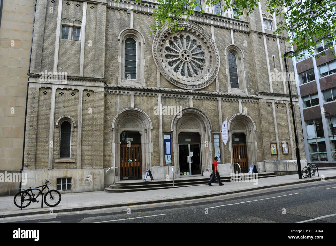 A Baptist Church in London's Covent Garden UK - Stock Image