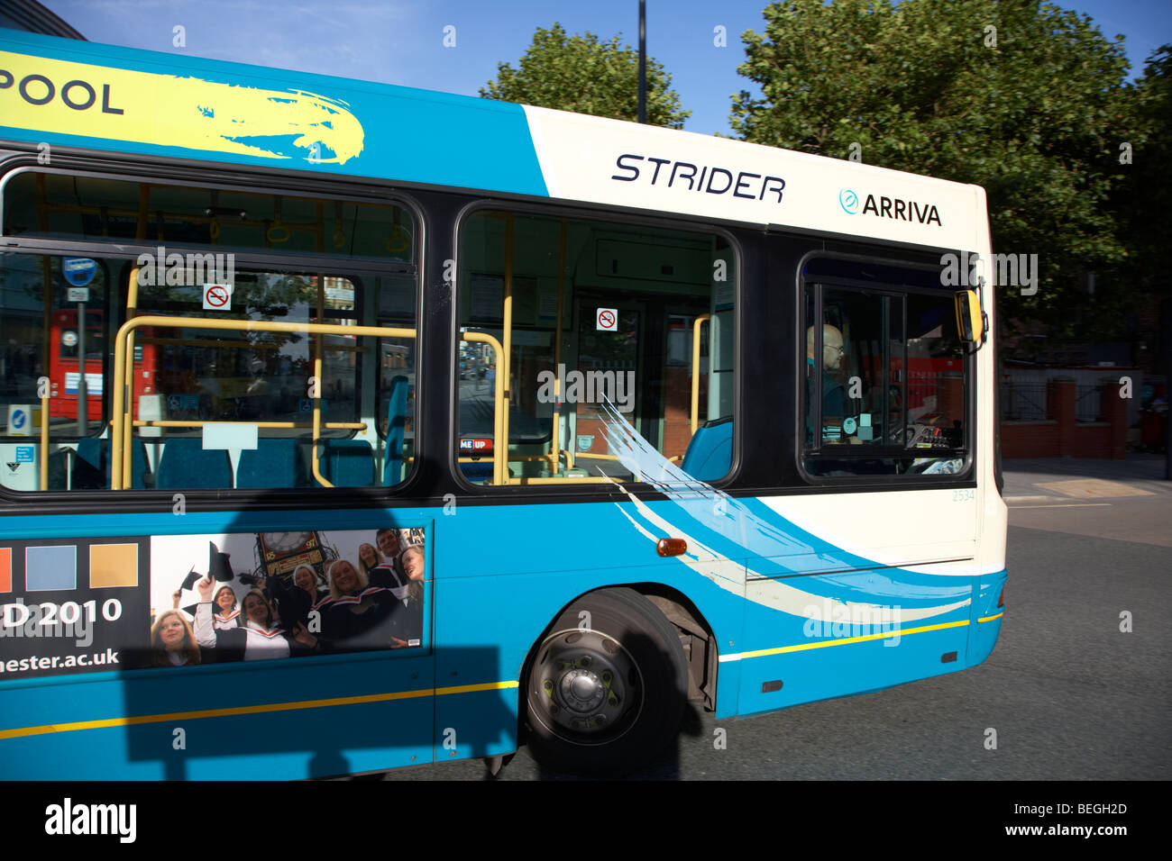 arriva strider single decker bus on a scheduled service in liverpool merseyside england uk - Stock Image