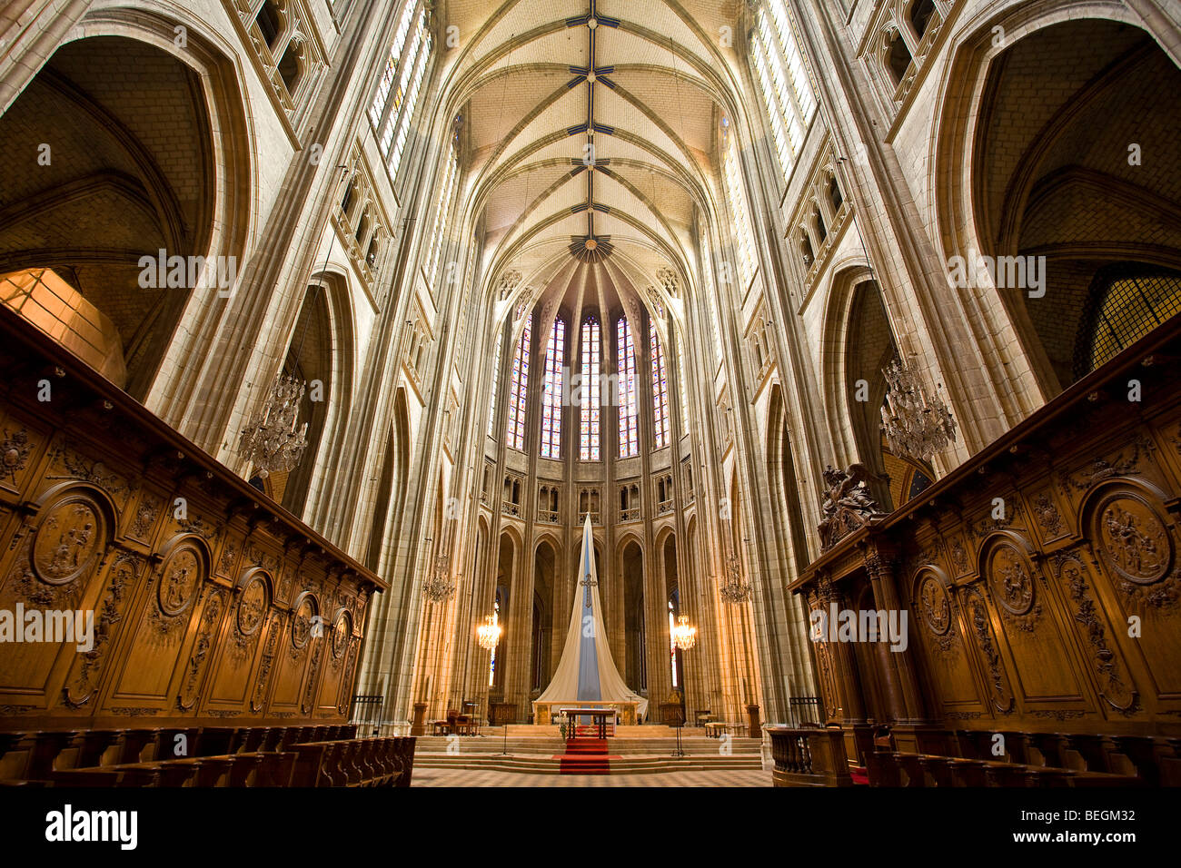 SAINTE-CROIX CATHEDRAL, ORLEANS - Stock Image