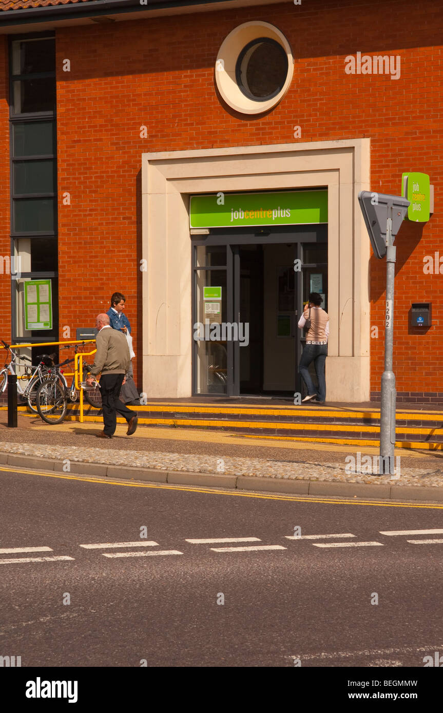 The Job centre in Great Yarmouth , Norfolk , Uk - Stock Image