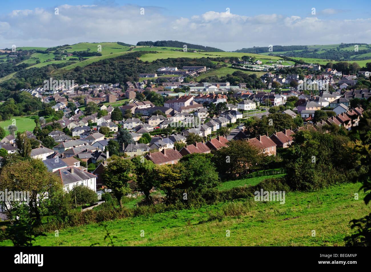 Penparcau council housing estate on the outskirts of Aberystwyth Wales UK - Stock Image