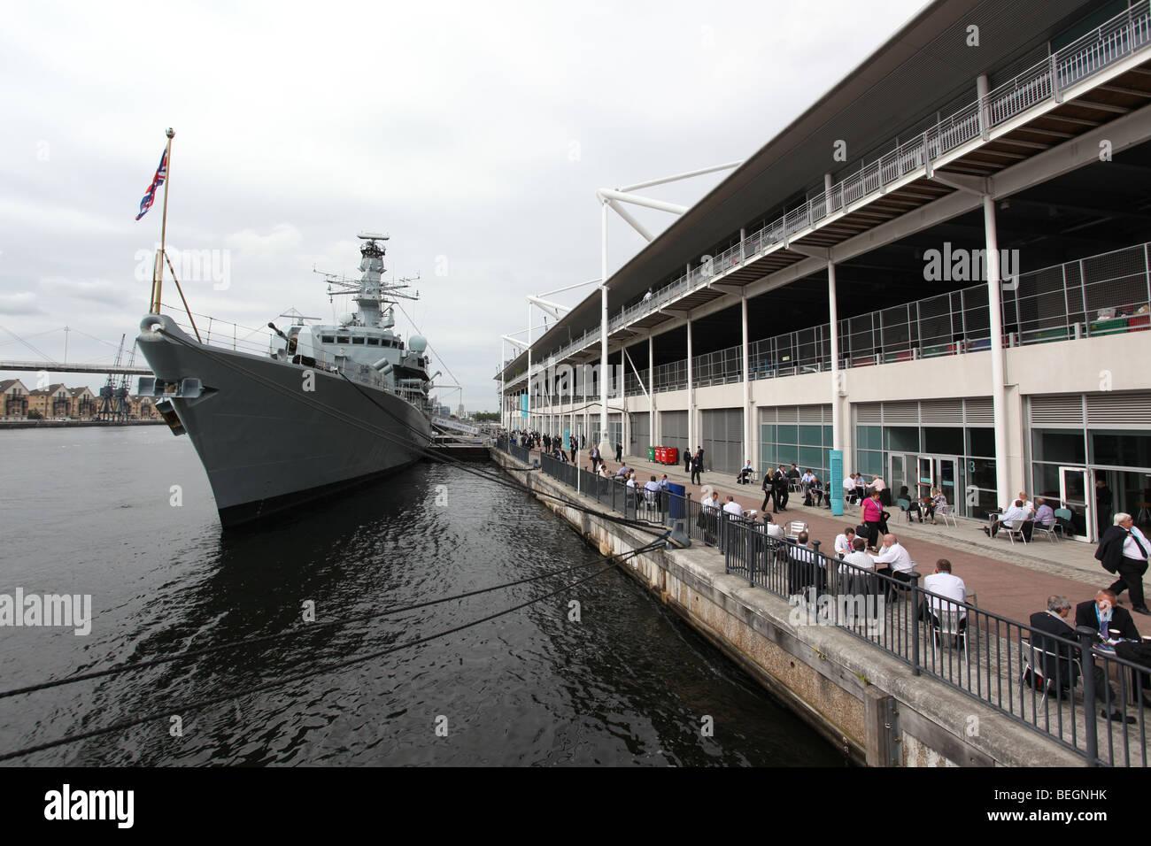 HMS Somerset at DSEi 2009 Stock Photo