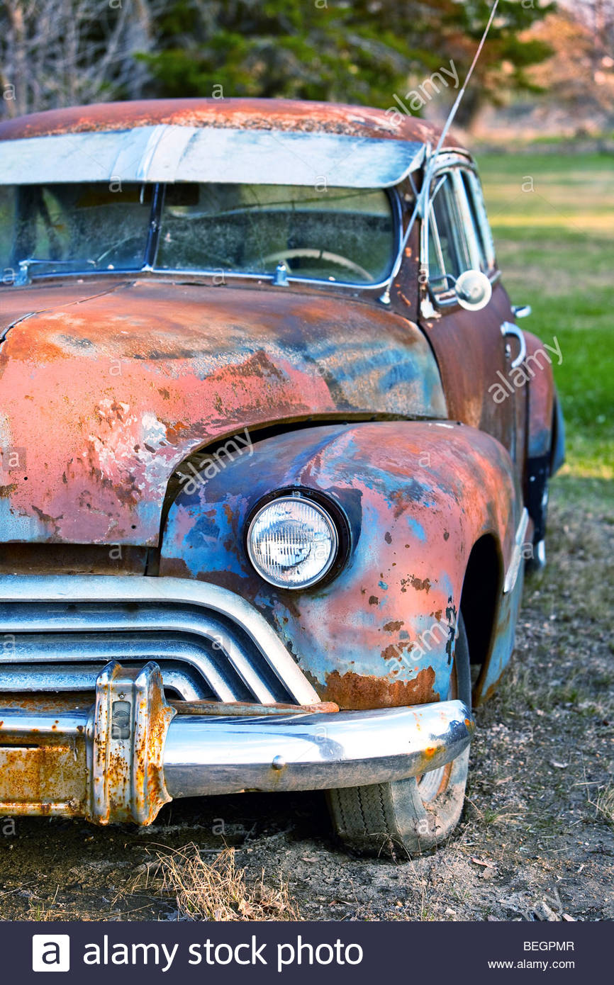 Old Classic Rusted Car Stock Photos & Old Classic Rusted Car Stock ...