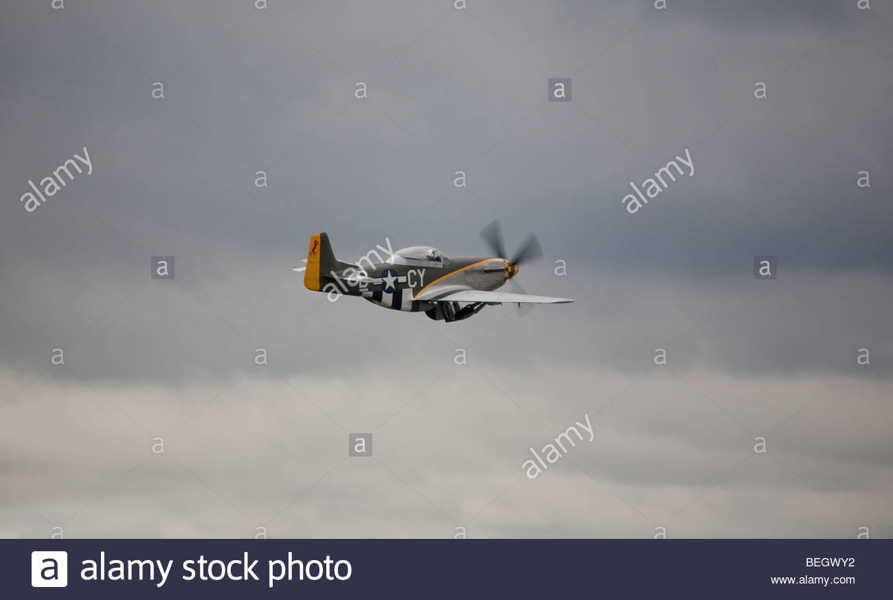 P-51 Mustang at an airshow - Stock Image