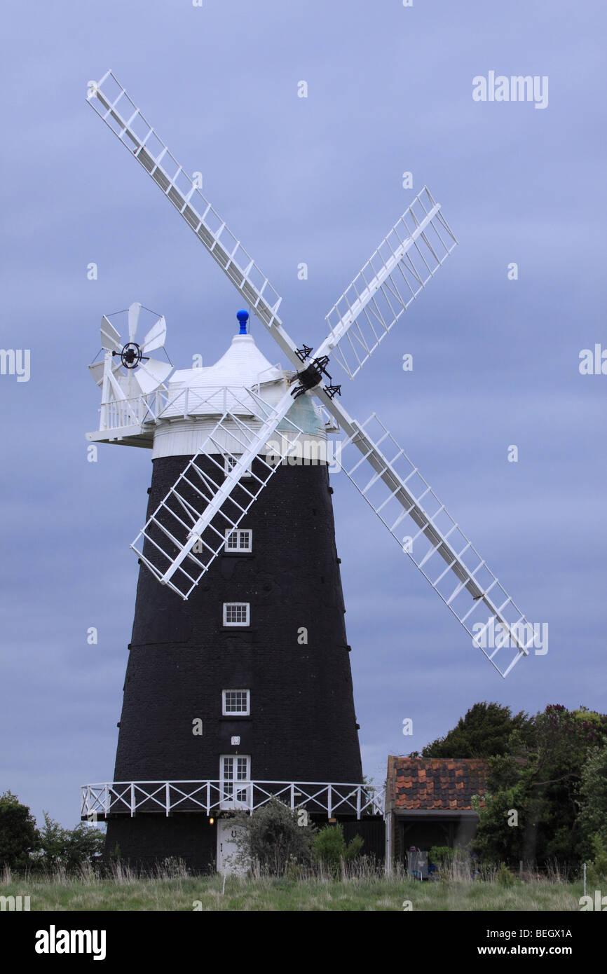 Union Mills,Burnham Overy, windmill Norfolk, England, UK - Stock Image