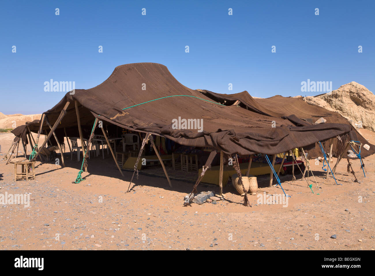 Tent of nomadic people Morocco - Stock Image