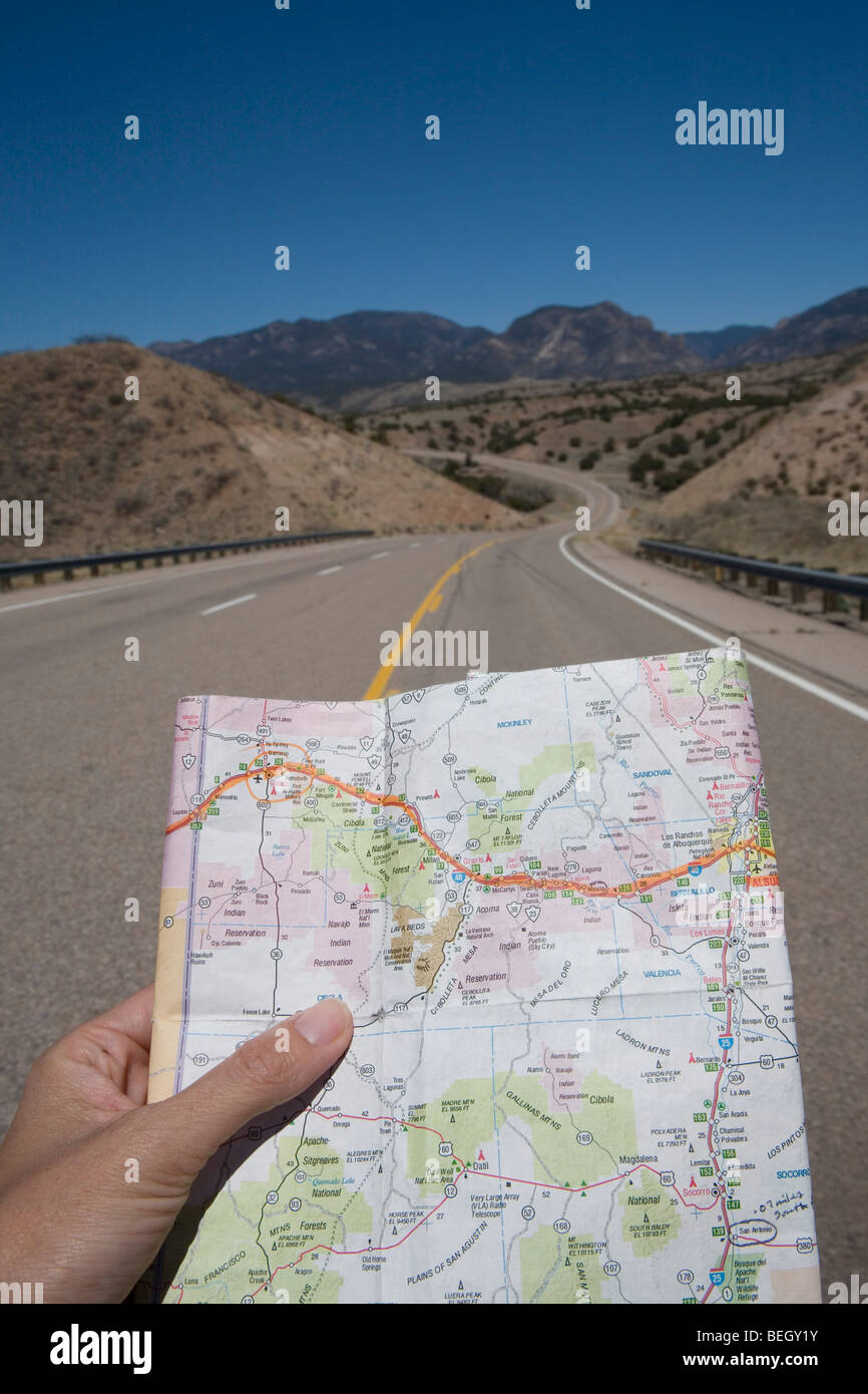 Western United States Road Map High Resolution Stock Photography And Images Alamy
