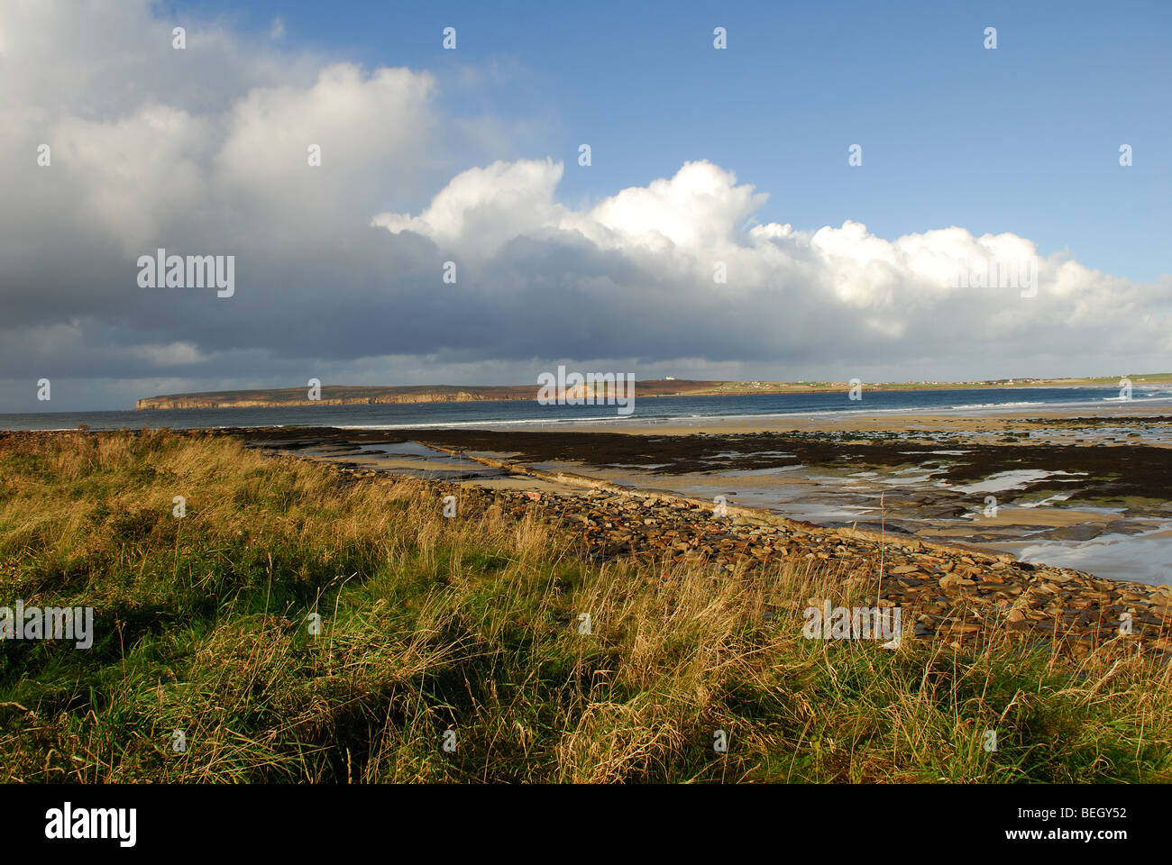 The Bay of Dunnet Caithness Scotland. - Stock Image