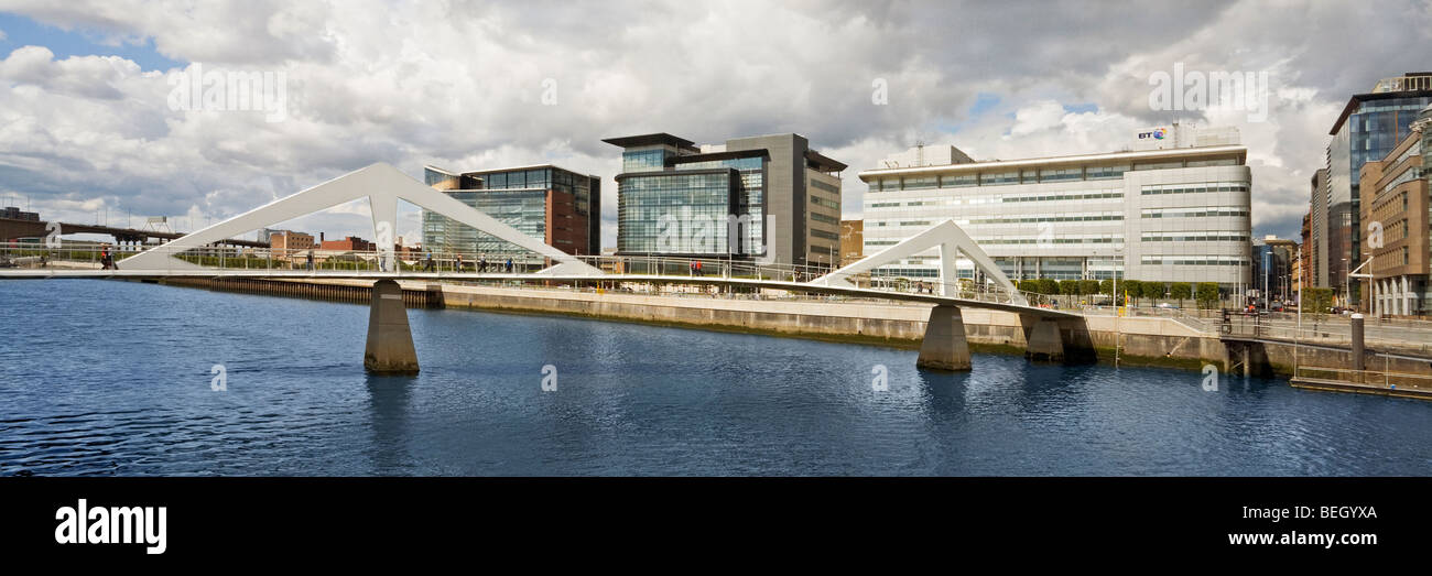 Tradeston Bridge over the River Clyde in Glasgow - Stock Image