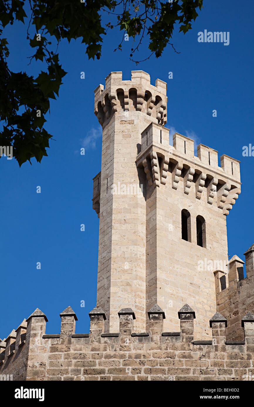 Llotja dels Mercader tower from the Royal Palace Palma Mallorca Spain Stock Photo